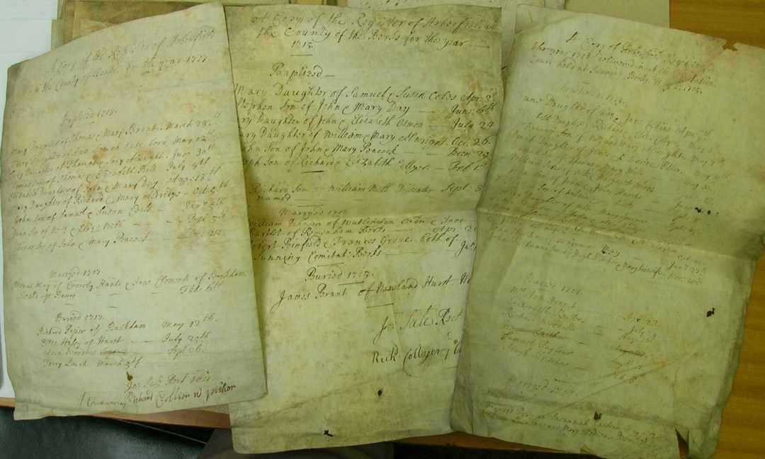 Arborfield Bishop's Transcripts for the 1700's