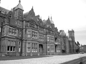 The south front, Bearwood Mansion