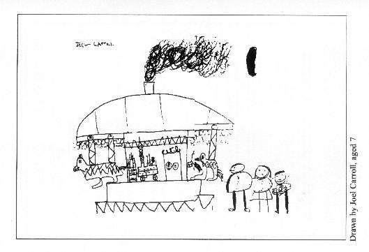 Picture on back cover by 7-year-old Joel Carroll of the Coombes Infant School