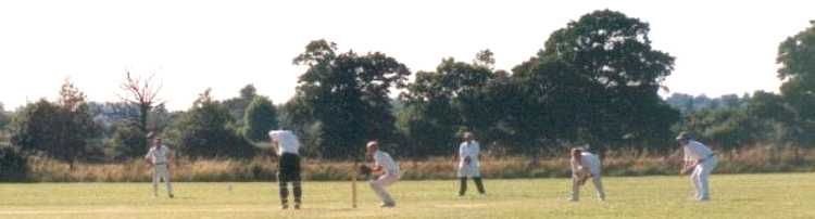 The Cricket Match in action