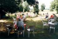 Teas in the Churchyard, in front of the old Church Hall