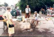 Eaton Berry stall outside the Village Hall - no tarmac under foot
