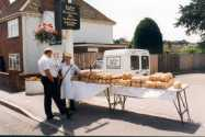 The baker from Lambourn had to make three journeys to re-stock