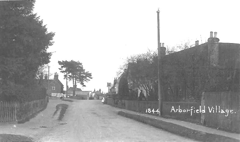 Arborfield Village - Eversley Road, looking towards the 'Swan'