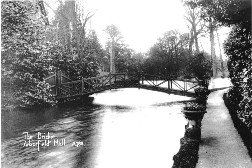 'The Bridge at Arborfield Hall' from a Collier postcard.