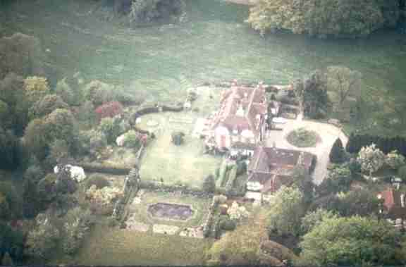 Arborfield Court from the air, in 1985
