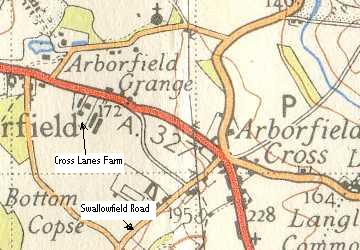 Cross Lanes Farm, from a 1940's Ordnance Survey Map