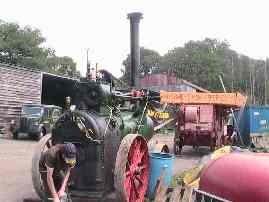 The steam engine driving a threshing machine by a pulley, 7th June 2007