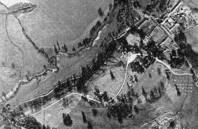 Arborfield Hall and River Loddon seen from the air, 10th March 1946
