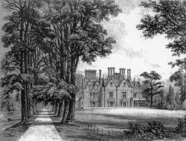 The River Loddon, Drive and Arborfield Hall in 1855