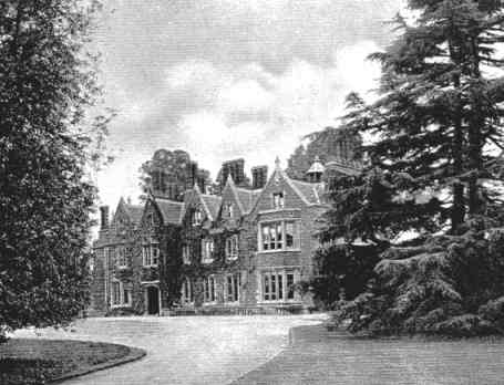 Arborfield Hall from the main roadway, as in 1919