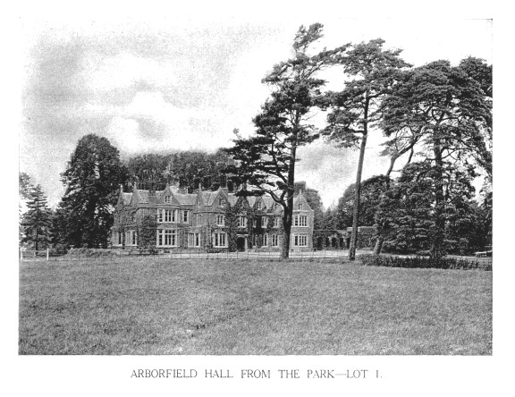 Arborfield Hall from the Park - Lot 1