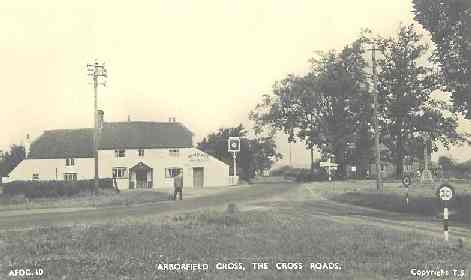 The Bull and the crossroads, from a 1950's postcard