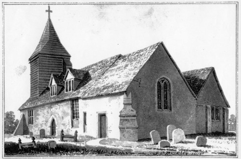 Arborfield Old Church as in 1818