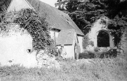 The Conroy Chapel in 1937, when the roof was showing signs of decay