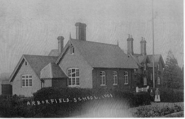 The School as it was before being expanded in 1910.
