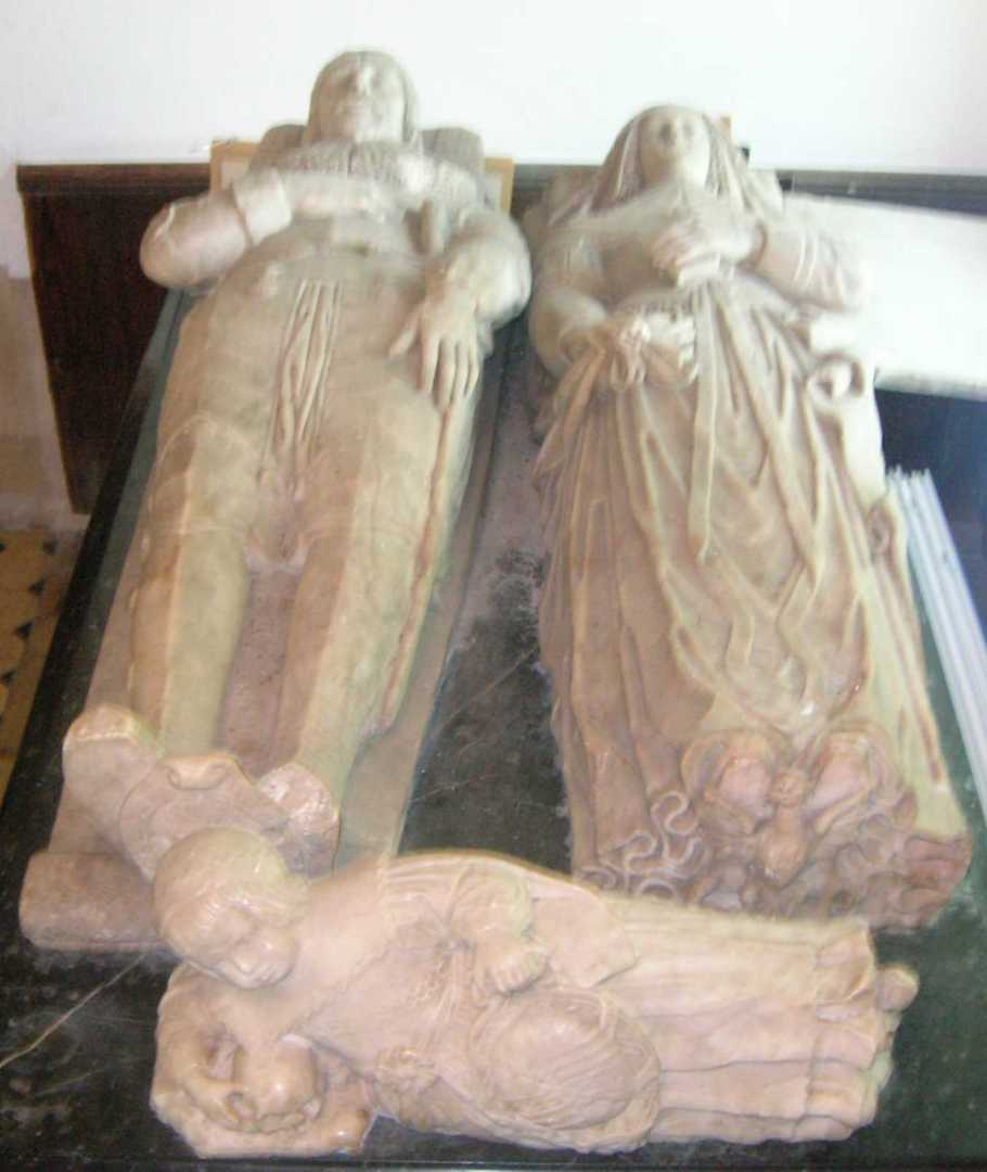 View from the top of the Standen Tomb, showing the family's effigies