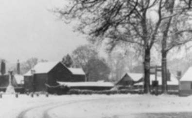The Garretts' Yard, in winter, mid-1920's
