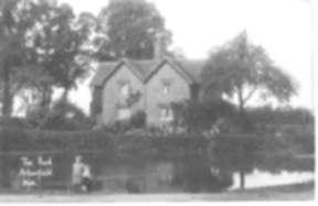 The Pond in about 1910, with Pond Cottages behind - from the Collier Collection