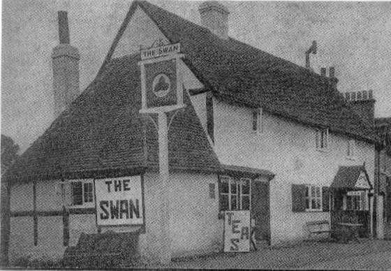 The Swan, advertising 'Teas', probably 1930's