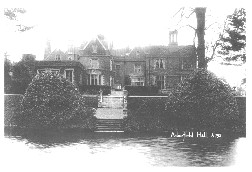 Arborfield Hall; the boat-house is just to the left of this view.