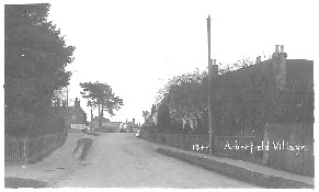 Eversley Road, looking south to the 'Swan' and the Garage