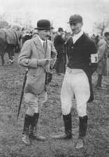 John Hayes Simonds (right) at a Point-to-Point races at the Remount Depot, 1920's