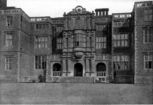 "The facade of Bramshill House, from Jeans, G. E. (Ed.): ""Memorials of Hampshire."" (1906)"
