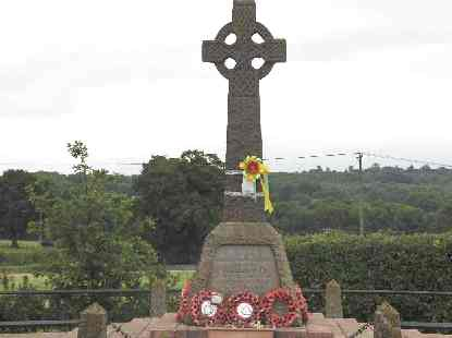 The war memorial in early August 2009