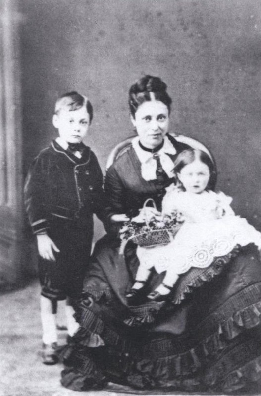 Emma, John and Minnie Rowe, about 1877