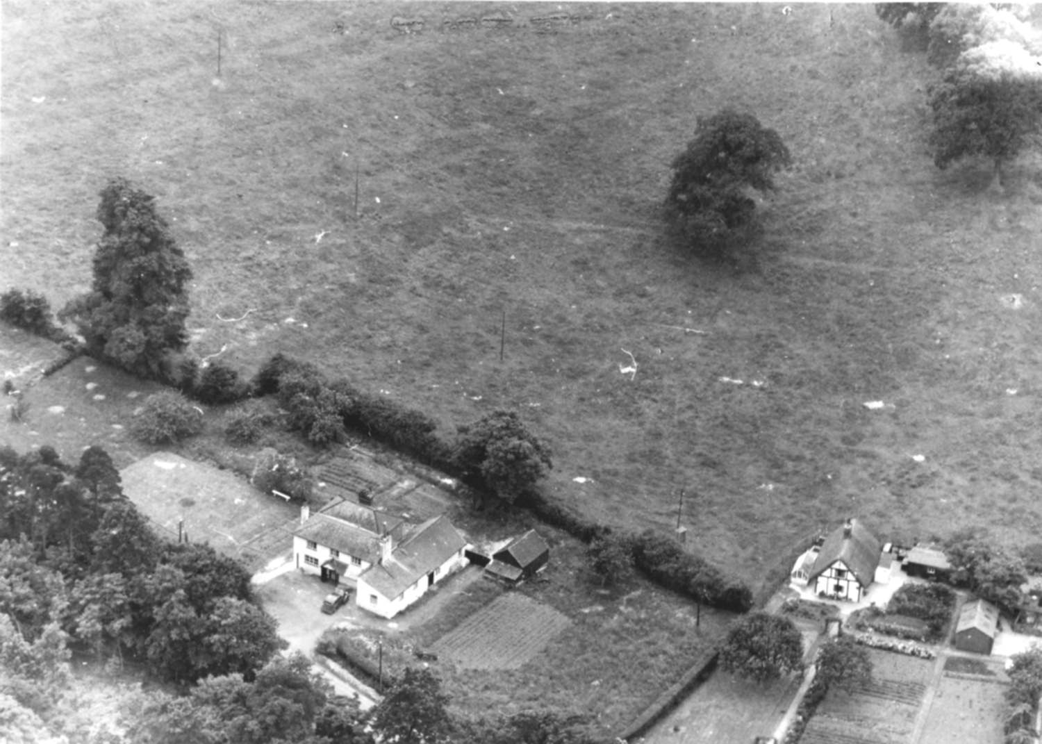 The 'Mole' P.H. and the 'Glen' from the air