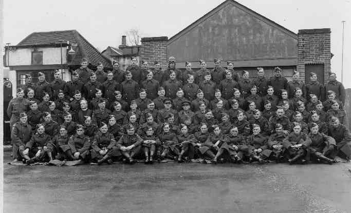 The 11th Berks Battalion of the Home Guard meeting at Winnersh