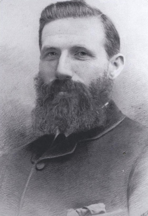 James Hellier Rowe, sporting a magnificent beard