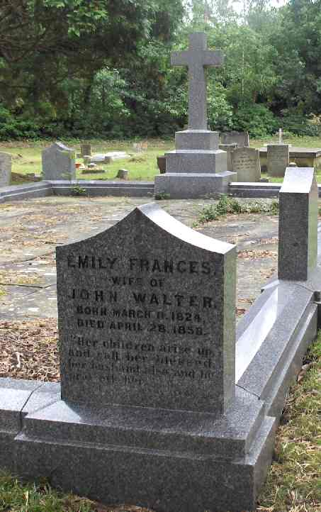 Emily Walter, died 1858