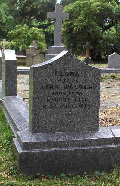 Flora Walter, who died in 1917