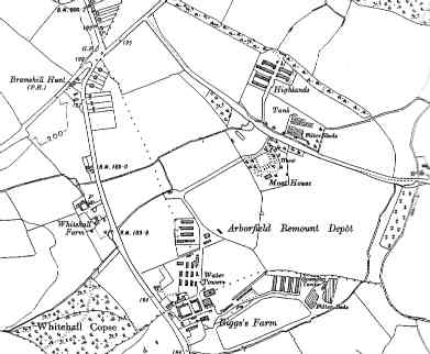 The Remount Depot, from a 1930's OS six-inch map