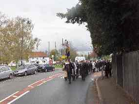 Starting back on Eversley Road towards the British Legion Hall