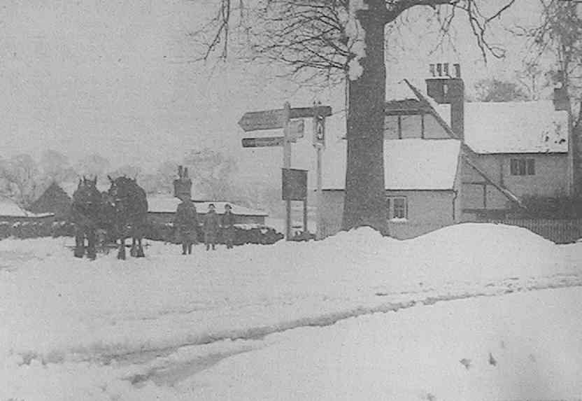 The Parish Cottages in Swallowfield Road in March 1937