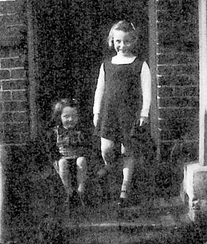Carol and Pam at Brook Cottage, 1941