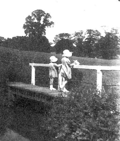 At the footbridge over the Mole Brook, 1941