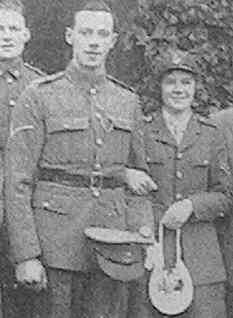 Mary Inglis and Gordon Stead, both in Army uniform.