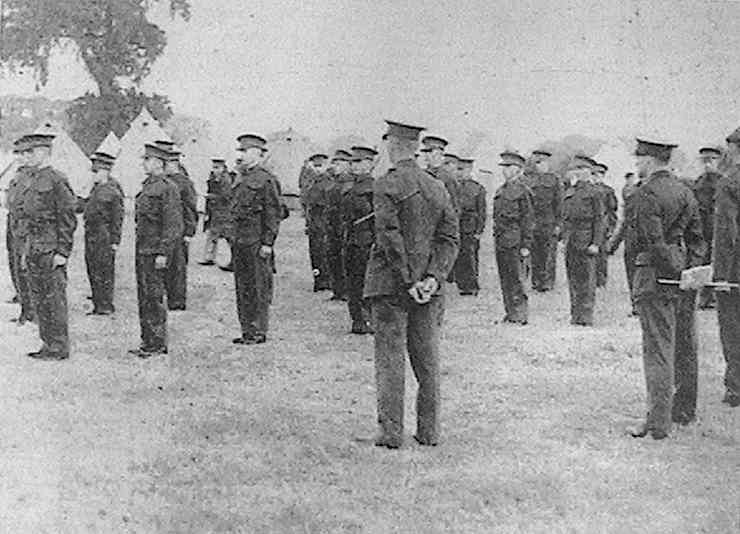 Militiamen at Arborfield, July 1939 - copyright 'Mercury' photo used by permission