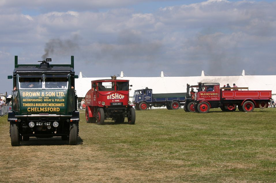 Steam wagons and lorries at Kemble, August 2005, by Paul Sharpe